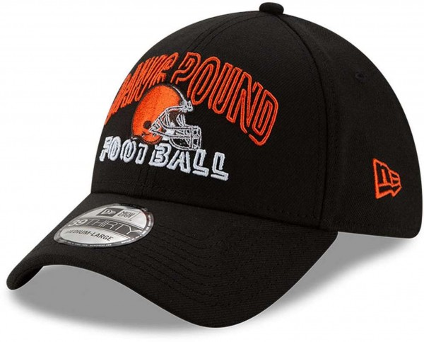 New Era - NFL Cleveland Browns 2020 Draft Alternative 39Thirty Stretch Cap - Schwarz Ansicht vorne schräg links