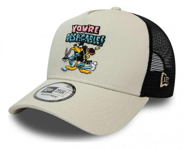 New Era - Looney Tunes Daffy Duck Character Trucker Snapback Cap - Schwarz Ansicht vorne schräg links