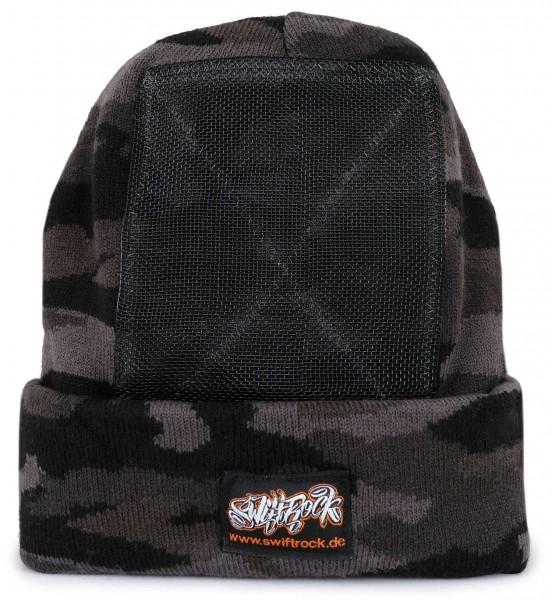 SR Rocking Gear - Swift Rock Camouflage Headspin Beanie - Schwarz