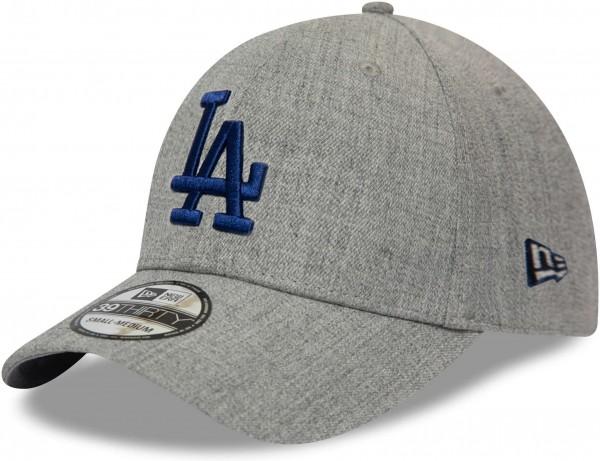 New Era - MLB Los Angeles Dodgers Heather 39Thirty Stretch Cap - Grau Ansicht vorne schräg links