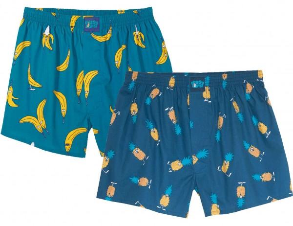 Lousy Livin - Bana-Ananas Pack Boxershorts - Mehrfarbig Vorderansicht