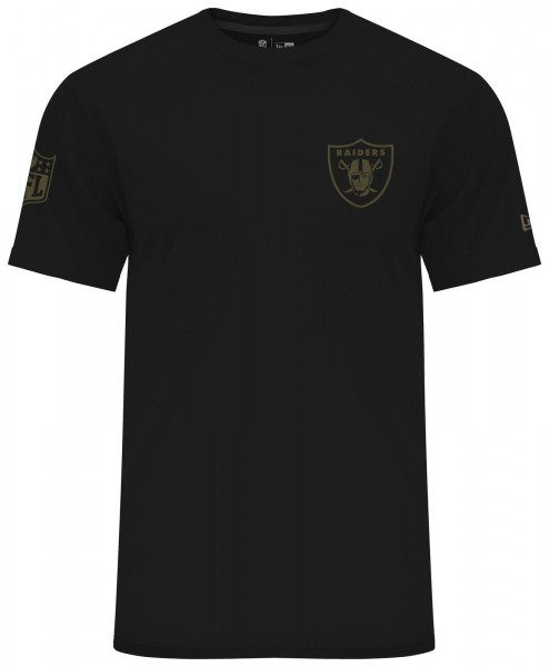 New Era - NFL Oakland Raiders Camo Collection 2018 T-Shirt - Schwarz ansicht vorderseite