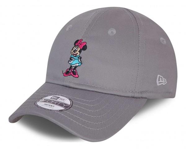 New Era - Minnie Mouse Character 9Forty Kids Strapback Cap - Grau Ansicht vorne schräg links