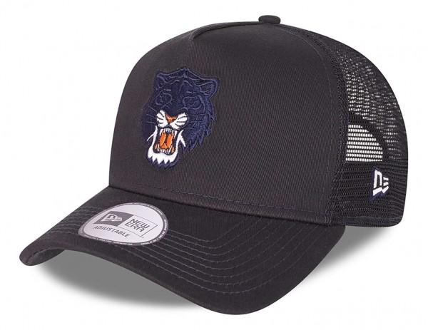 New Era - MLB Detroit Tigers Team Elemental Trucker Snapback Cap - Grau Ansicht vorne schräg links