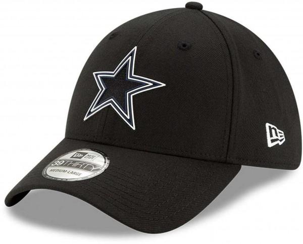 New Era - NFL Dallas Cowboys 2020 Draft Official 39Thirty Stretch Cap - Schwarz Ansicht vorne schräg links