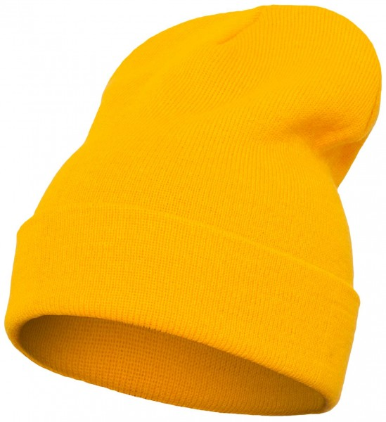 Yupoong Heavy Knit Cuffed Beanie - gold