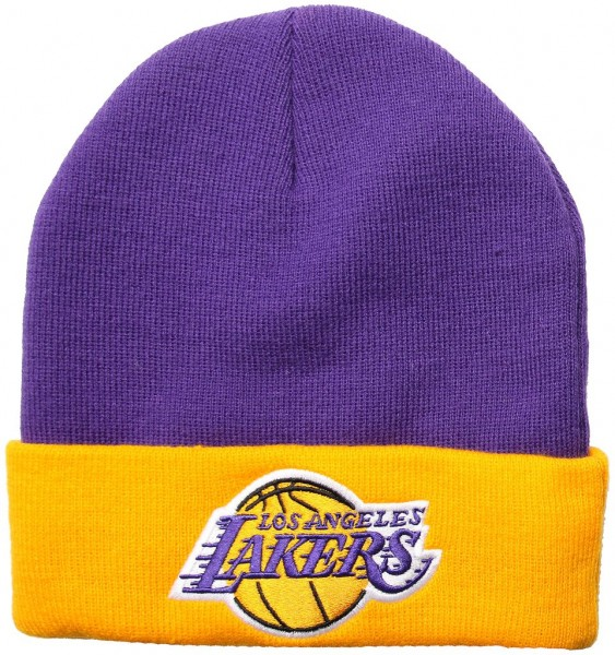 Mitchell & Ness - NBA Los Angeles Lakers 2 Tone Cuff Beanie - purple