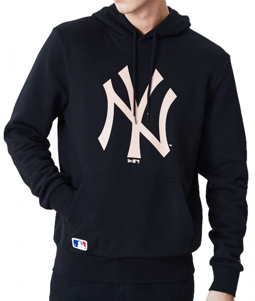 New Era - MLB New York Yankees Seasonal Team Logo Hoodie - Schwarz Vorderansicht