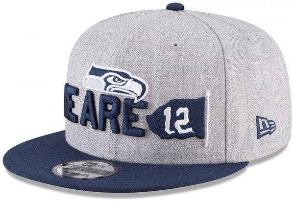 New Era - NFL Seattle Seahawks Draft 2018 On Stage 9Fifty Snapback Cap - Grau-Navy