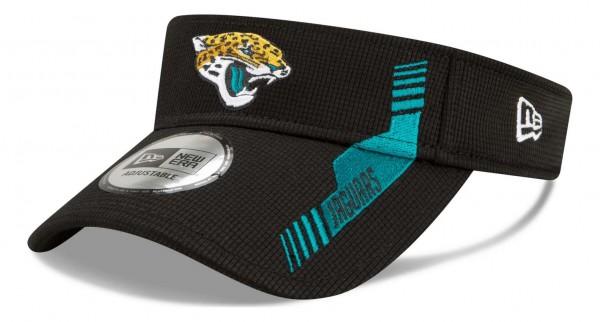 New Era - NFL Jacksonville Jaguars 2021 Sideline Home Visor - Schwarz Ansicht vorne schräg links
