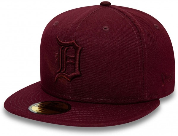 New Era - MLB Detroit Tigers Essential 59Fifty Fitted Cap - Rot Ansicht vorne links