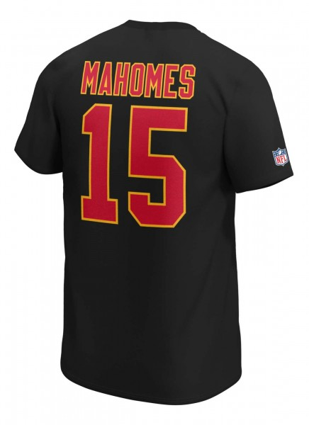Fanatics - NFL Kansas City Chiefs Iconic Name & Number Graphic Patrick Mahomes T-Shirt - Schwarz Rückansicht