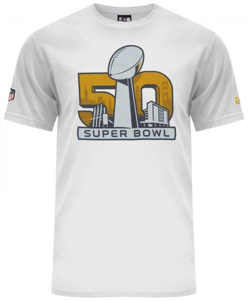 New Era - NFL Superbowl Event T-Shirt - Weiß Vorderseite