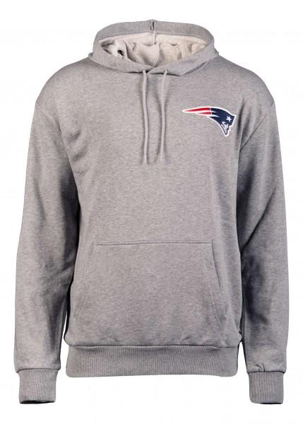 New Era - New England Patriots Detail Logo PO Hoodie - Grau Vorderansicht