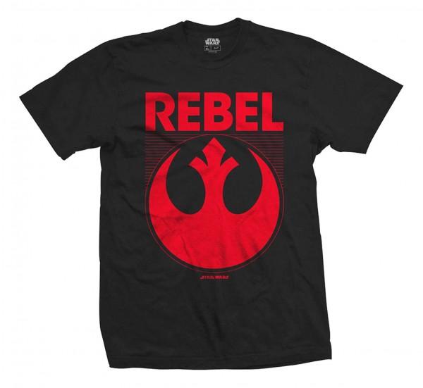 Bravado - Star Wars Episode 7 Rebel T-Shirt - Schwarz Vorderansicht