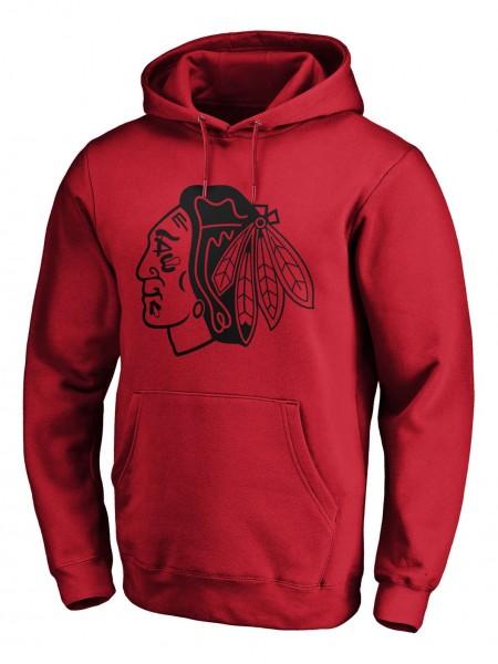 Fanatics - NHL Chicago Blackhawks Mono Core Graphic Hoodie - Rot Vorderansicht