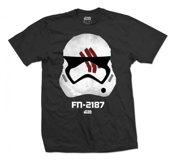 Bravado - Star Wars Episode 7 Finn T-Shirt - Schwarz Vorderansicht