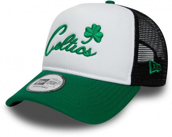 New Era - NBA Boston Celtics Colour Block A Frame Trucker Cap - Mehrfarbig Ansicht vorderseite