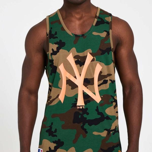 New Era - MLB New York Yankees Camo Tank Top - Camouflage Vorderansicht