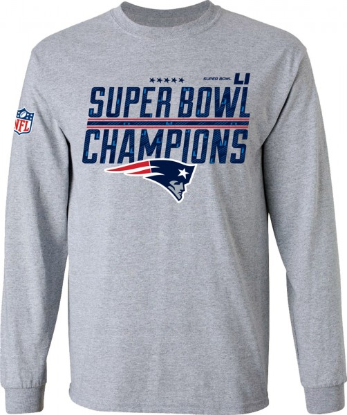 Majestic Athletic - NFL New England Patriots Super Bowl 51 Champion Longsleeve - grey