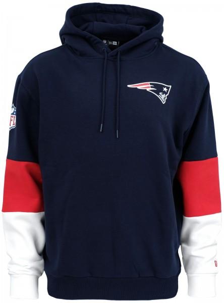 New Era - NFL New England Patriots Colour Block Hoodie - Blau ansicht vorderseite