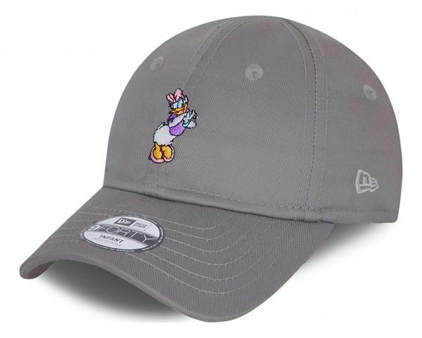 New Era - Disney Daisy Duck Character 9Forty Kids Strapback Cap - Grau Ansicht vorne schräg links