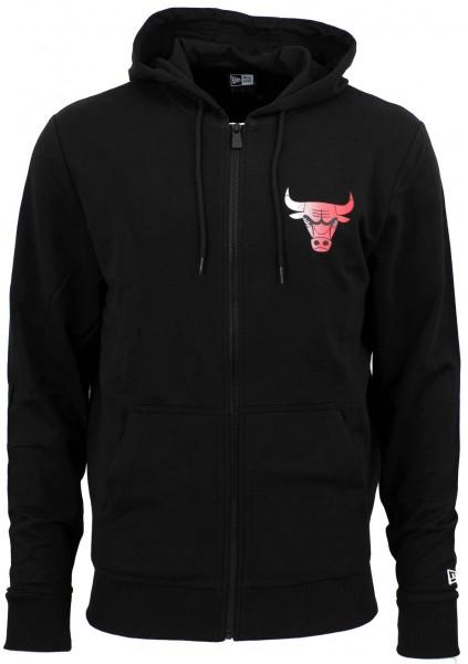 New Era - NBA Chicago Bulls Gradient Wordmark Zip Hoodie - Schwarz