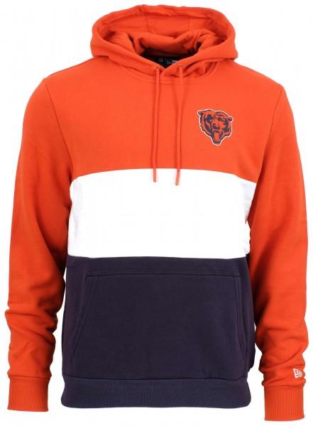 New Era - NFL Chicago Bears Colour Block Hoodie - Blau-Weiß-Orange Vorderansicht