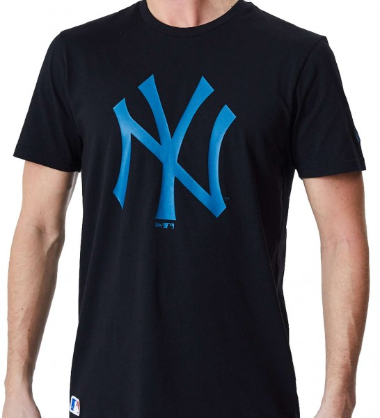 New Era - MLB New York Yankees Seasonal Team Logo T-Shirt - Schwarz Vorderansicht