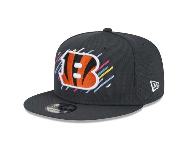 New Era - NFL Cincinnati Bengals 2021 Crucial Catch 9Fifty Snapback Cap - Grau Ansicht vorne schräg links