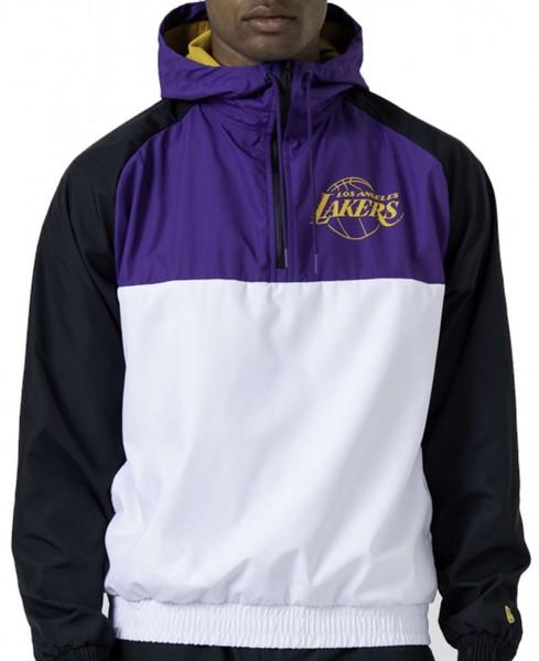 New Era - NBA Los Angeles Lakers Hooded Windbreaker Jacke - Mehrfarbig Vorderansicht