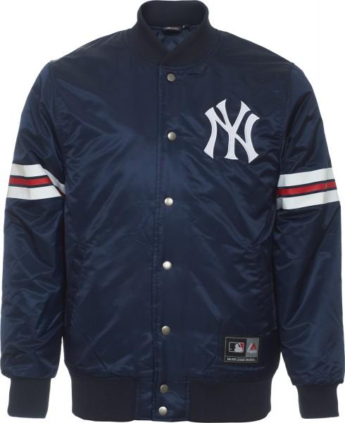 Majestic Athletic - MLB New York Yankees Elmwood Jacke - Blau Frontansicht
