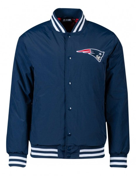 New Era - NFL New England Patriots Team Wordmark GS Bomber Jacke - Blau Vorderansicht