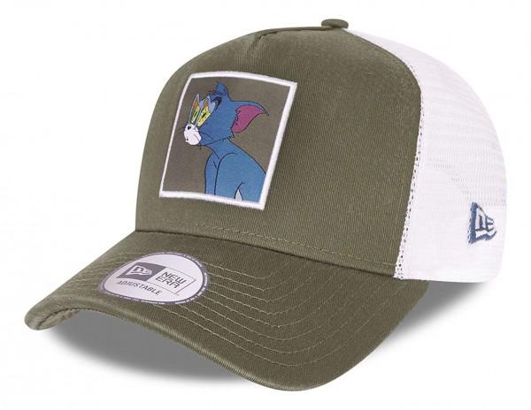 New Era - Tom and Jerry Trucker Snapback Cap - Mehrfarbig Ansicht vorne schräg links