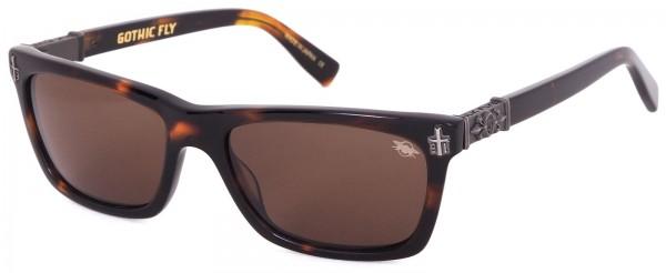 Black Flys - Gothic Fly Sonnenbrille - Braun