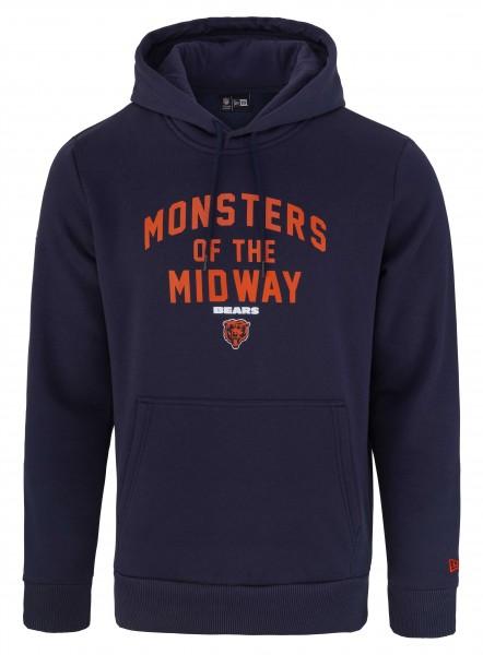 New Era NFL Chicago Bears Monsters of the Midway Hoodie in der Farbe blau Ansicht vorderseite