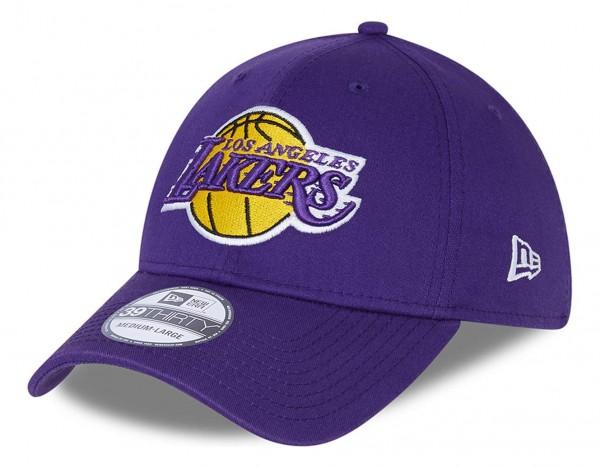 New Era - NBA Los Angeles Lakers Core 39Thirty Stretch Cap - Lila Ansicht vorne schräg links