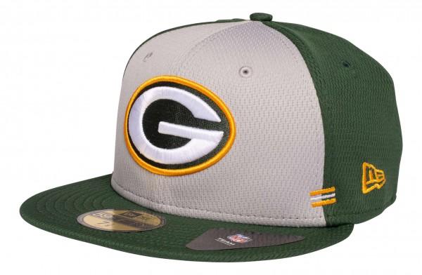 New Era - NFL Green Bay Packers OnField 2020 Sideline Home 59Fifty Fitted Cap - Grün Ansicht vorne schräg links