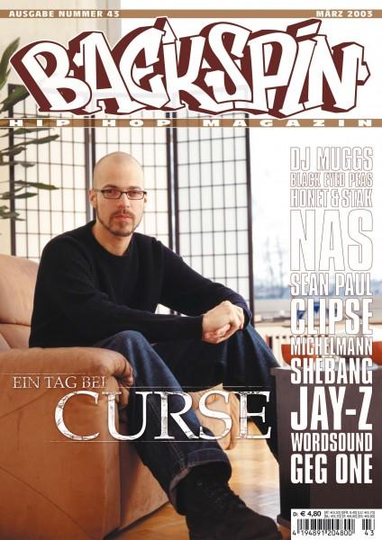 Auf dem Bild ist das Cover zu sehen der BACKSPIN Printausgabe Nummer 43