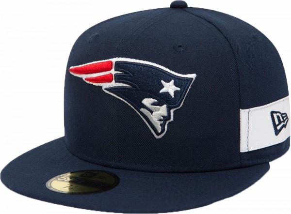New Era - NFL New England Patriots Side Block 59Fifty Cap - navy