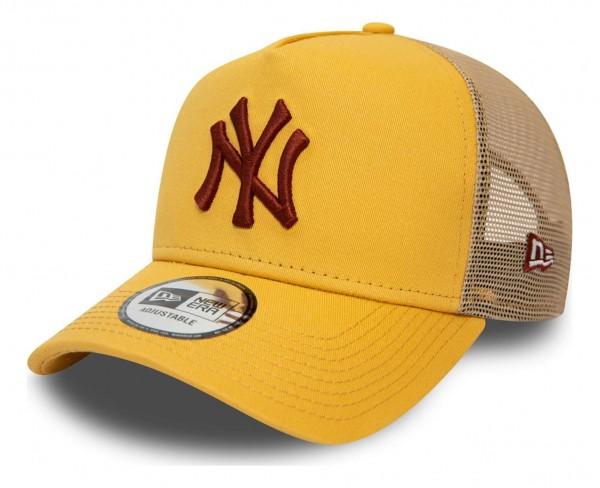 New Era - MLB New York Yankees League Essential Trucker Snapback Cap - Schwarz Ansicht vorne schräg links