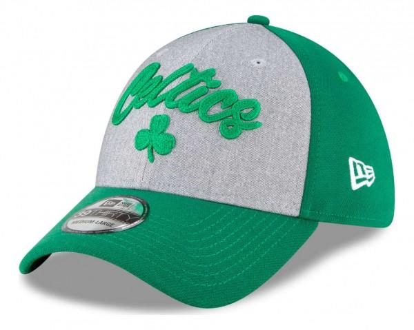 New Era - NBA Boston Celtics 2020 Draft Edition 39Thirty Stretch Cap - Grün Ansicht vorne schräg links