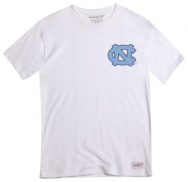 Mitchell & Ness - NCAA North Carolina Tar Heels Mascot Traditional T-Shirt - Weiß Vorderansicht