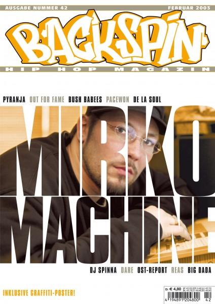 Auf dem Bild ist das Cover zu sehen der BACKSPIN Printausgabe Nummer 42