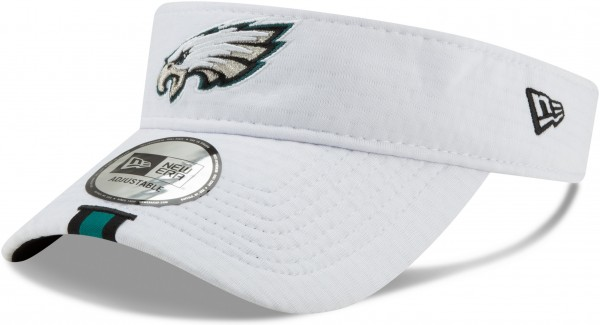 New Era - NFL Philadelphia Eagles On Field 2019 Training Visor - Weiß