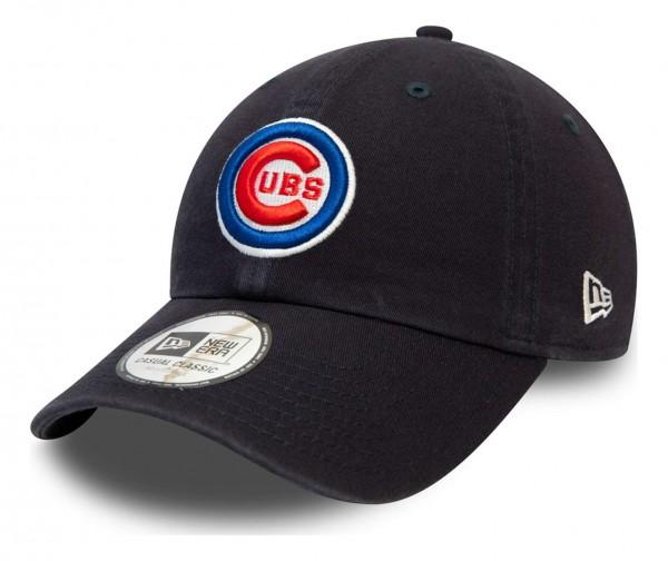 New Era - MLB Chicago Cubs League Essential Casual Classic 9Twenty Strapback Cap - Grau Ansicht vorne schräg links
