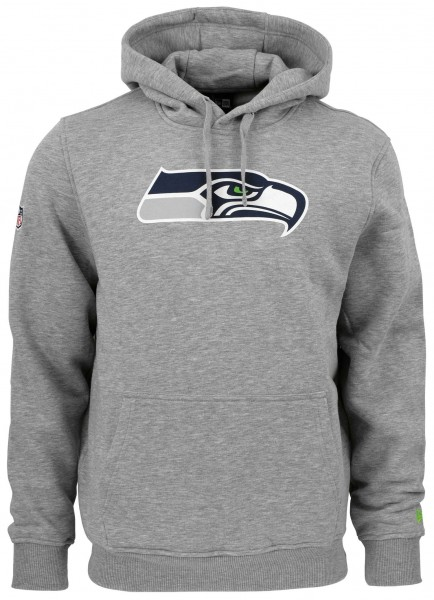 New Era - NFL Seattle Seahawks Team Logo Hoodie - Grau