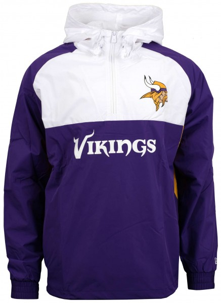 New Era - NFL Minnesota Vikings Colour Block Windbreaker Jacke - Violett-Weiß Vorderansicht