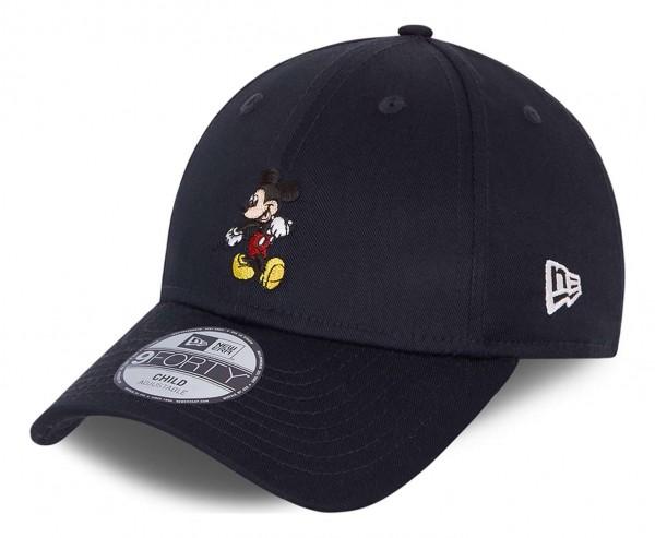 New Era - Disney Mickey Mouse Character 9Forty Kids Strapback Cap - Blau Ansicht vorne schräg links