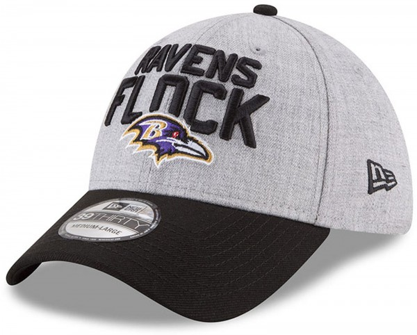 New Era - NFL Baltimore Ravens Draft 2018 On Stage 39Thirty Cap - Grau-Schwarz